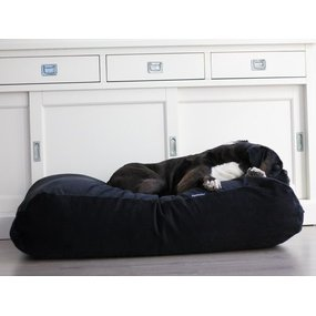 Dog's Companion® Hundebett Schwarz (Cord) Superlarge