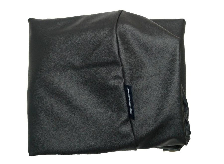 Bezug Schwarz leather look