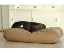 Dog's Companion® Dog bed taupe leather look