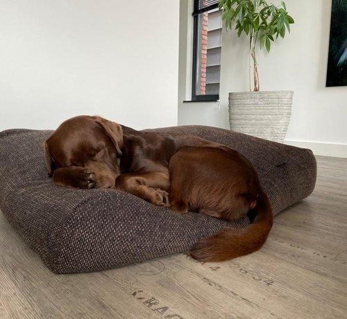 Dog's Companion® Hundebett Stockholm Rough brown/black