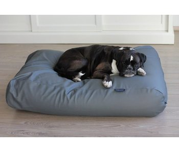 Dog's Companion® Hundebett Mausgrau Leather Look