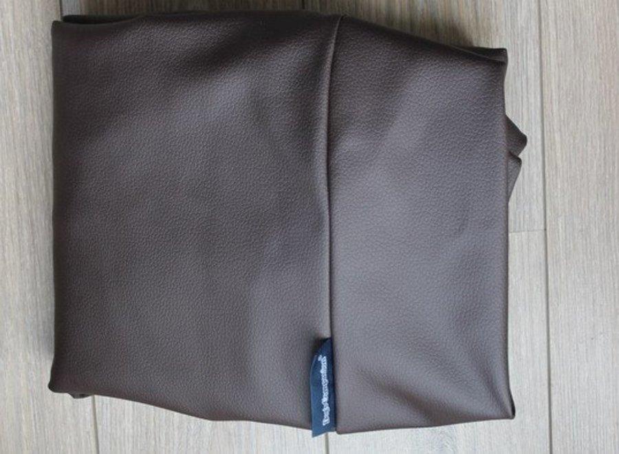 Hundebett schokolade braun leather look
