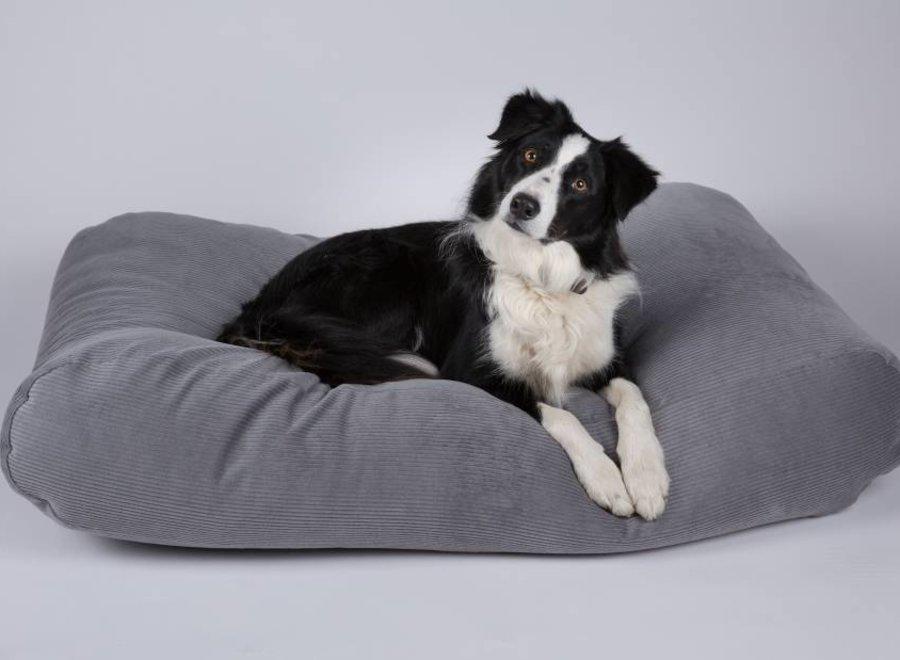 Hundebett Mausgrau (Cord)