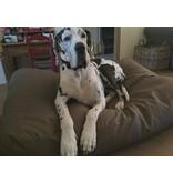 Dog's Companion® Hundebett Taupe leather look