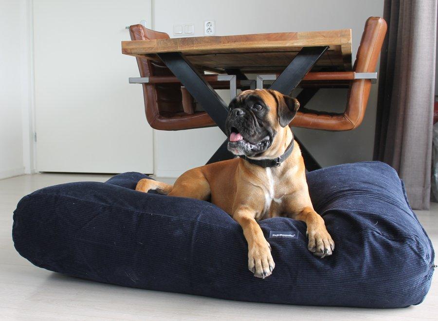 Hundebett Dunkelblau Corduroy