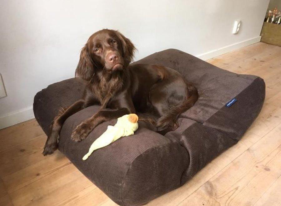 Hundebett Schokolade Braun (Cord)