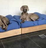 Dog's Companion® Lit pour chien Manhattan bleu lin Large