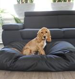 Dog's Companion® Lit pour chien Noir leather look Small