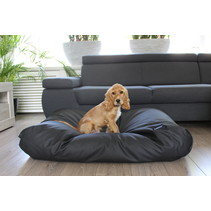 Lit pour chien Noir leather look Medium