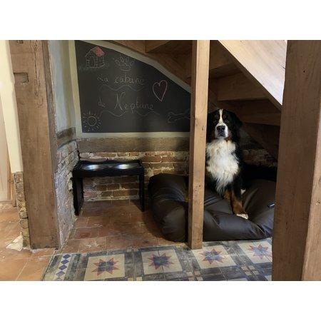 Dog's Companion® Lit pour chien chocolat leather look Large
