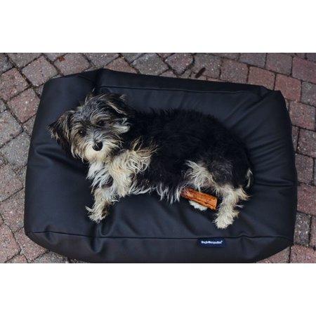 Dog's Companion® Lit pour chien Noir leather look Medium