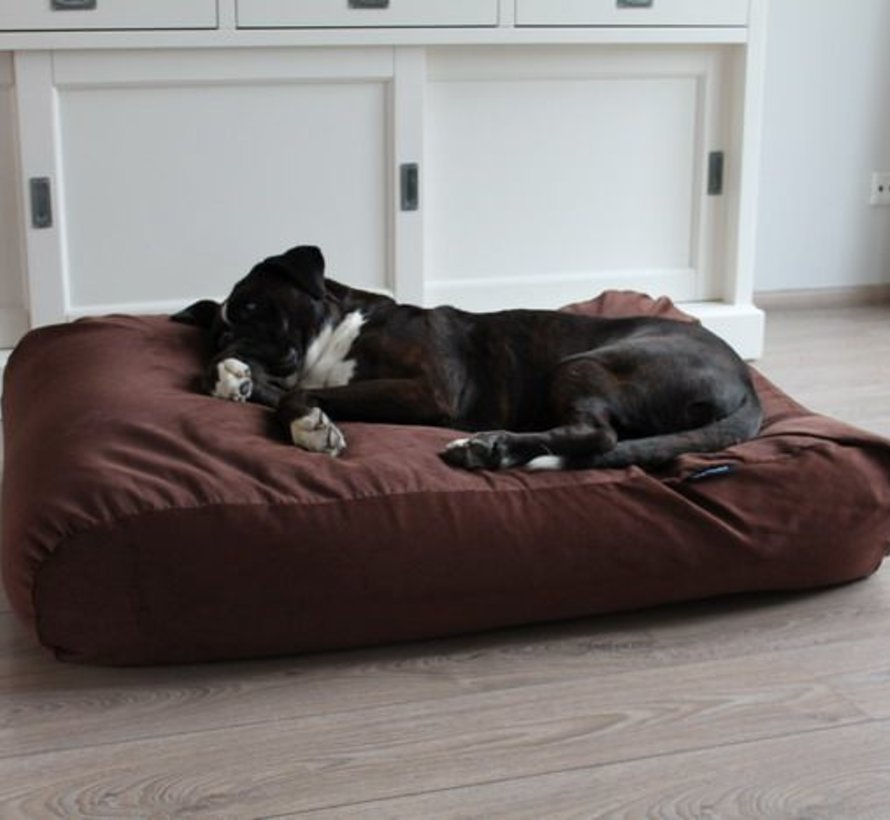 Hondenbed Mokka Ribcord Extra Small