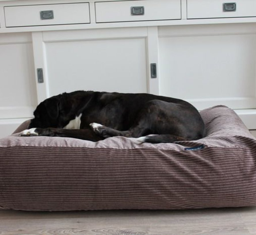 Lit pour chien Maron-Beige Duo (corduroy) Extra Small
