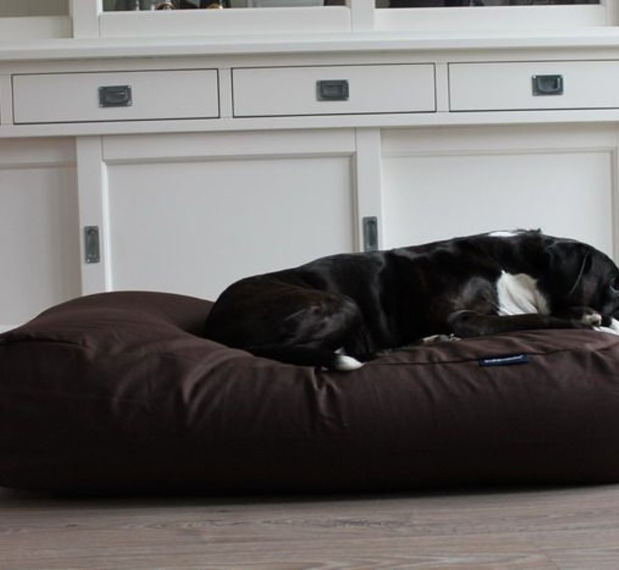 Dog bed Chocolate Brown Cotton Large