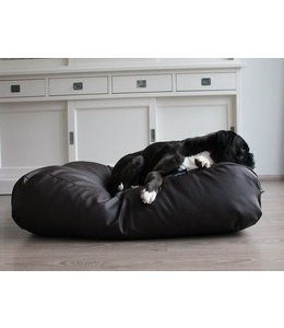 Dog's Companion Hondenbed chocolade bruin leather look Medium