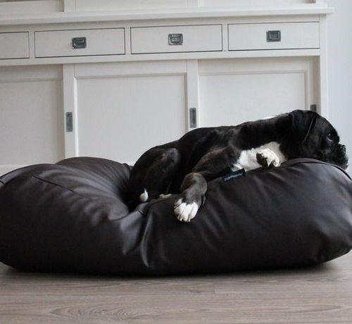 Dog's Companion Hondenbed chocolade bruin leather look Medium