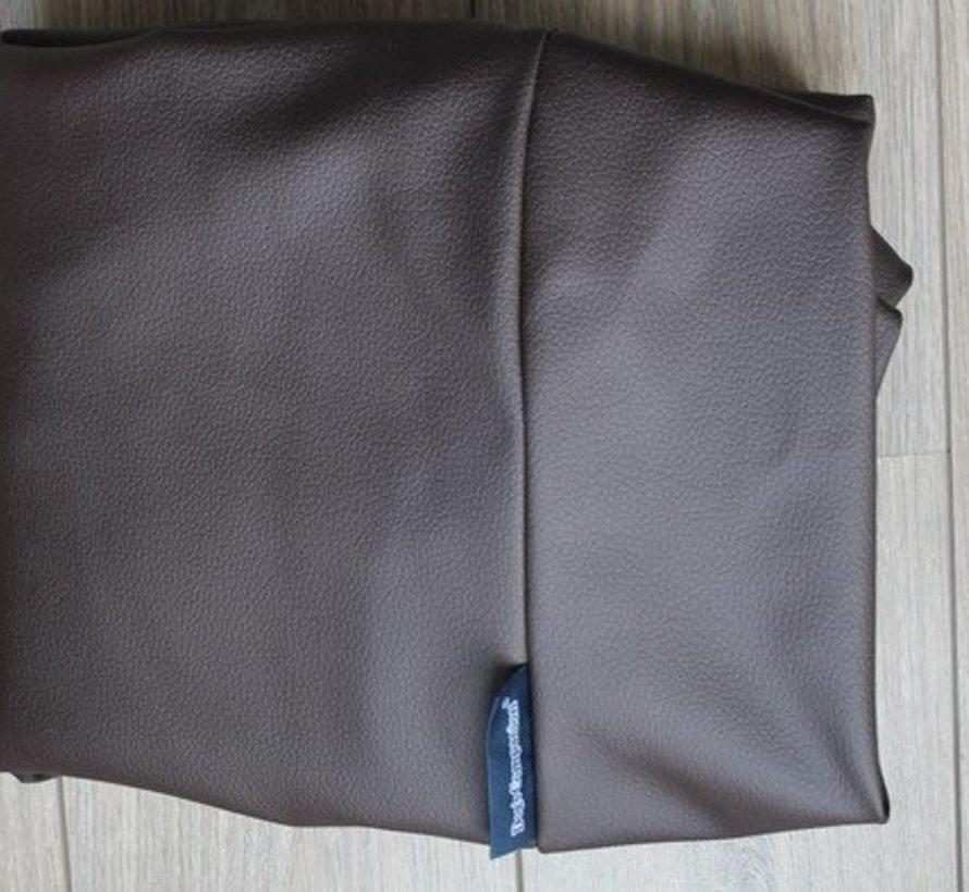 Hondenbed chocolade bruin leather look Medium