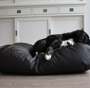 Dog's Companion Dog bed chocolate brown leather look Superlarge