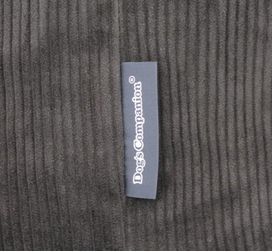 Hundebett Schwarz (Cord) Superlarge