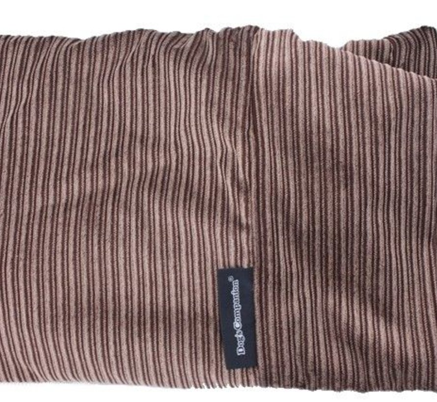 Hondenbed Bruin-Beige Duo Ribcord Extra Small