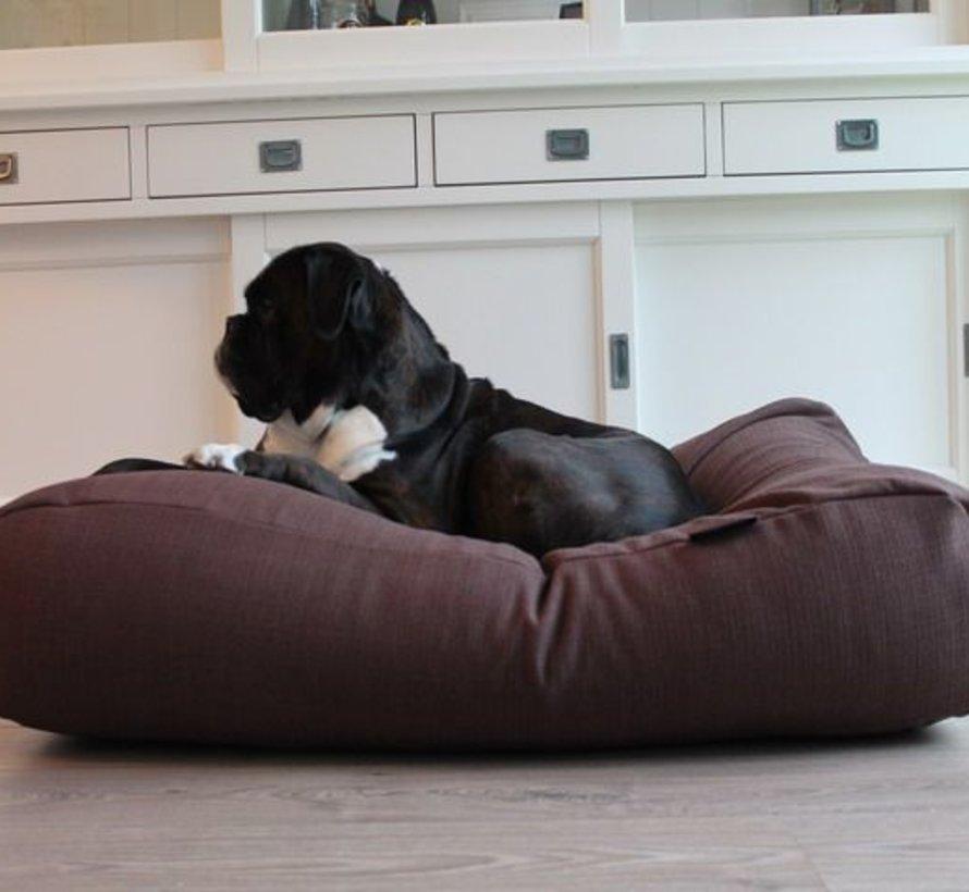 Lit pour chien chocolat tapisserie