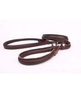 Leather retriever line (double stop)