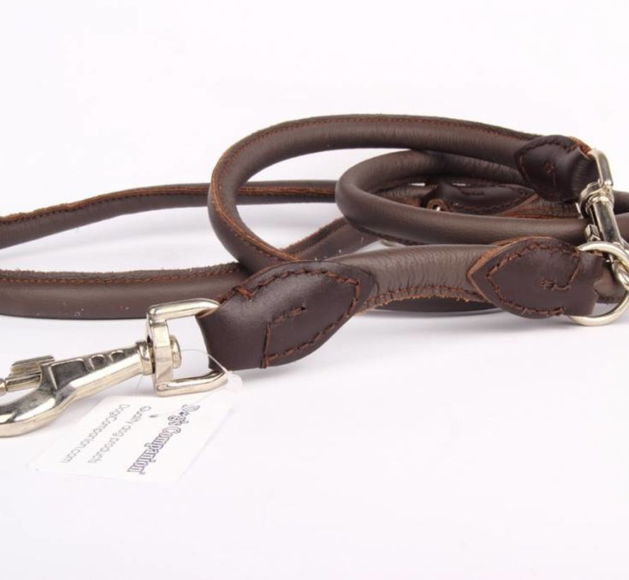 Adjustable leather round leashes