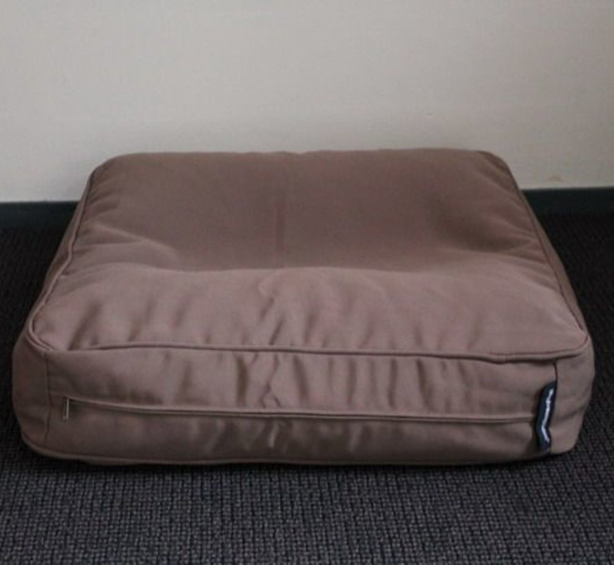 Banc coussin taupe (68 x 62 x 10 cm)