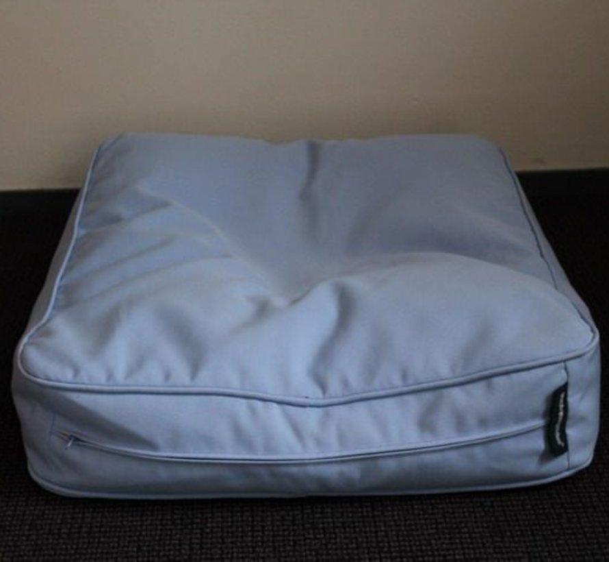 Dog bed bench cushion light blue (68 x 62 x 10 cm)