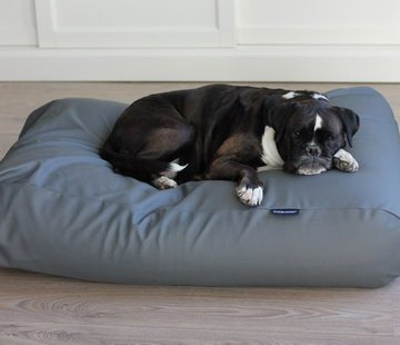 Dog's Companion Dog bed mouse grey leather look