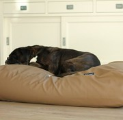 Dog's Companion Dog bed taupe leather look