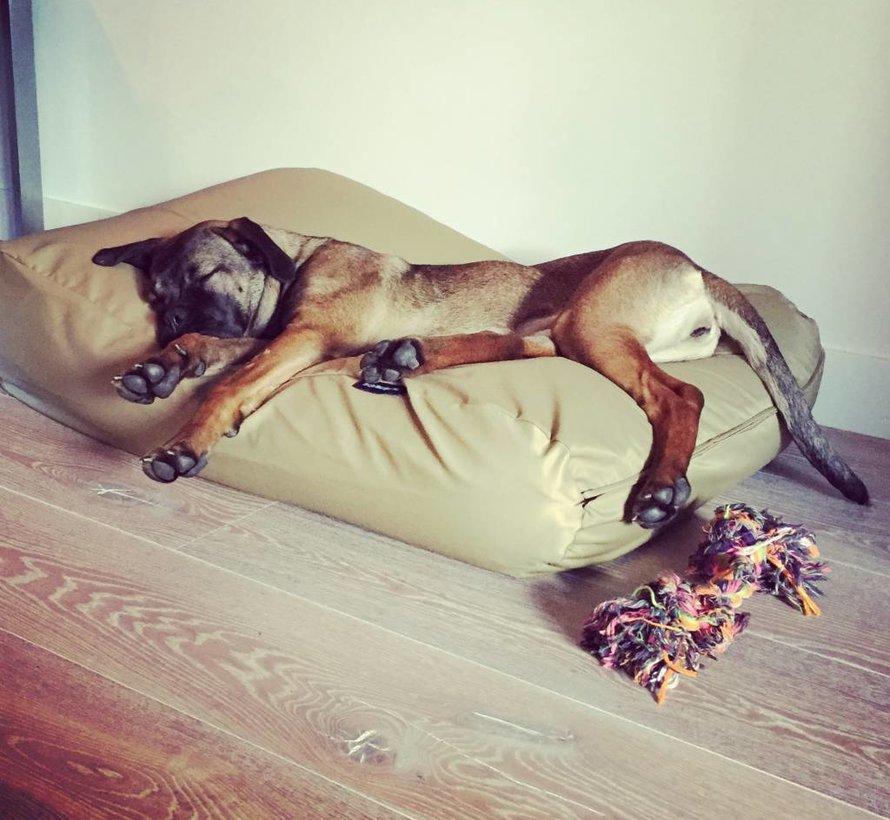 Hondenbed khaki vuilafstotende coating Small