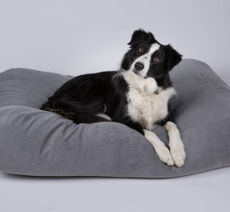Dog bed Mouse Grey (Corduroy) Small