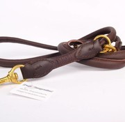 Adjustable leather dog leash (around 220 cm)