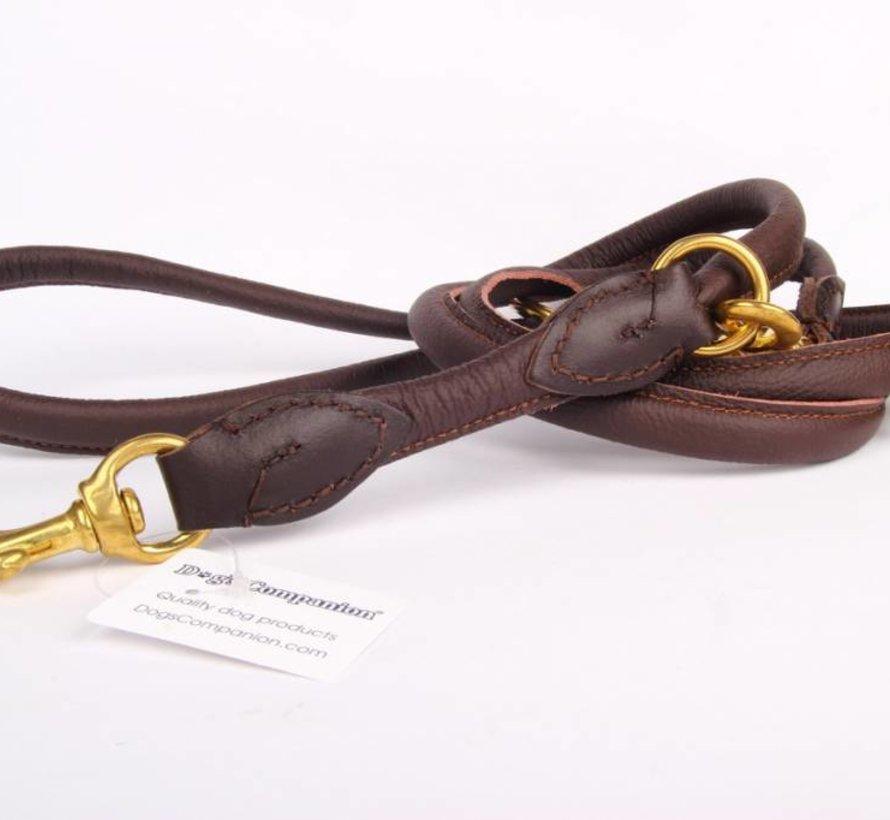 Laisse de chien en cuir réglable (environ 220 cm)