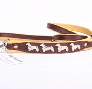 Leather dog leash (Dachshund)