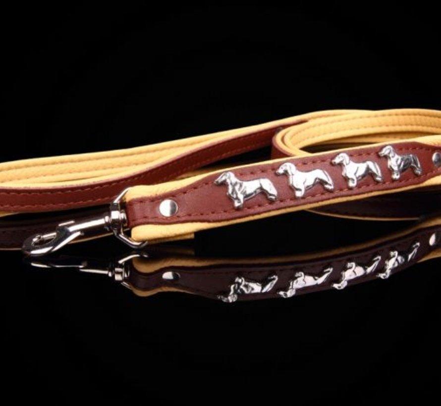 Leather dog leash (Dachshund)