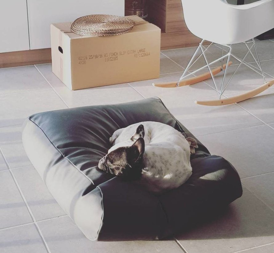 Dog bed Black leather look Extra Small