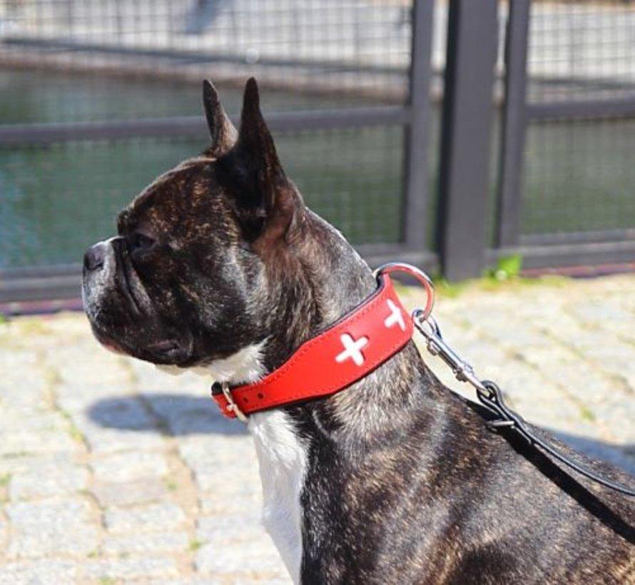 Swiss leather collar