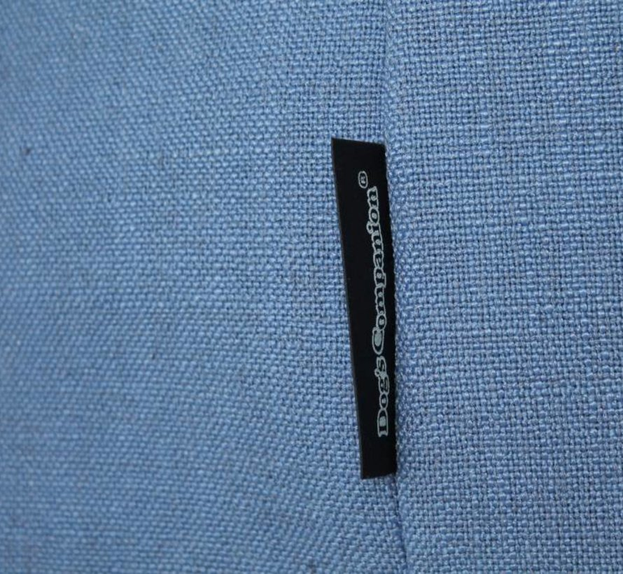 Extra cover Manhattan blue linen Large