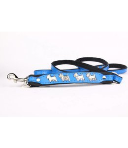 Leather dog leash West Highland Terrier