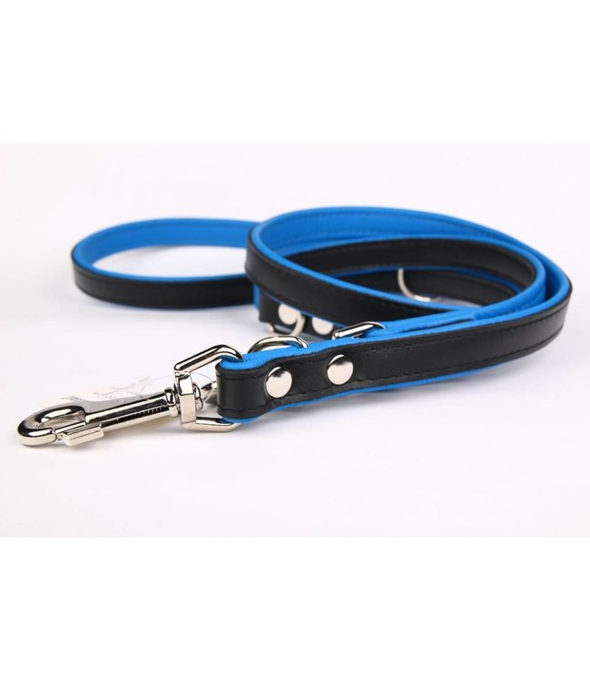 Adjustable leather round leash (soft/duo)