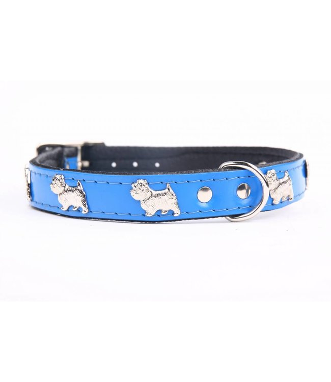 Leather dog collar Westie