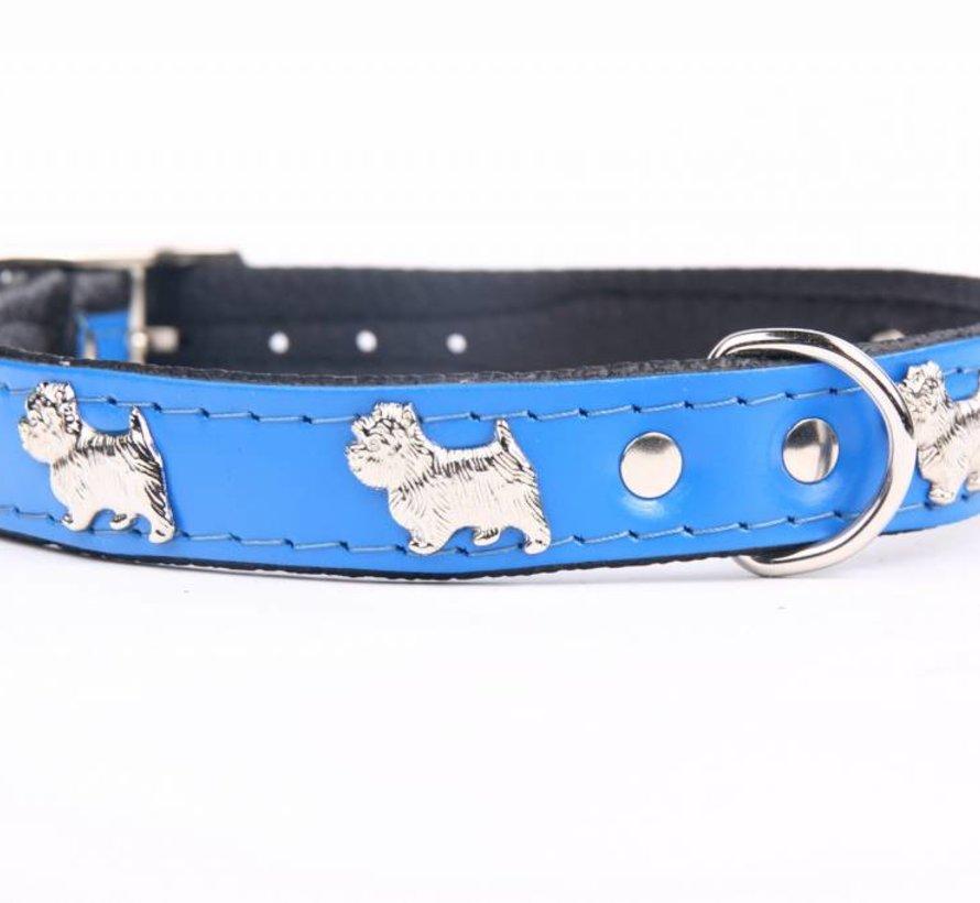 Leather dog collar Westie