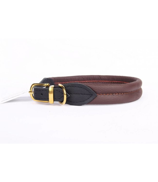 Leather collar soft (brass)