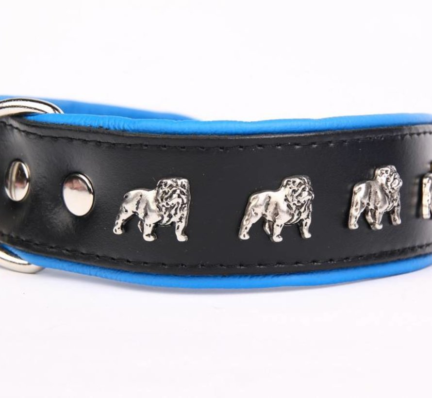 Leren halsband Engelse Bulldog
