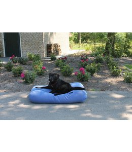 Dog's Companion Dog bed Manhattan blue linen