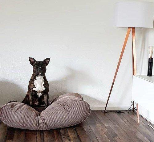 Dog's Companion Lit pour chien Maron-Beige Duo (corduroy) Extra Small