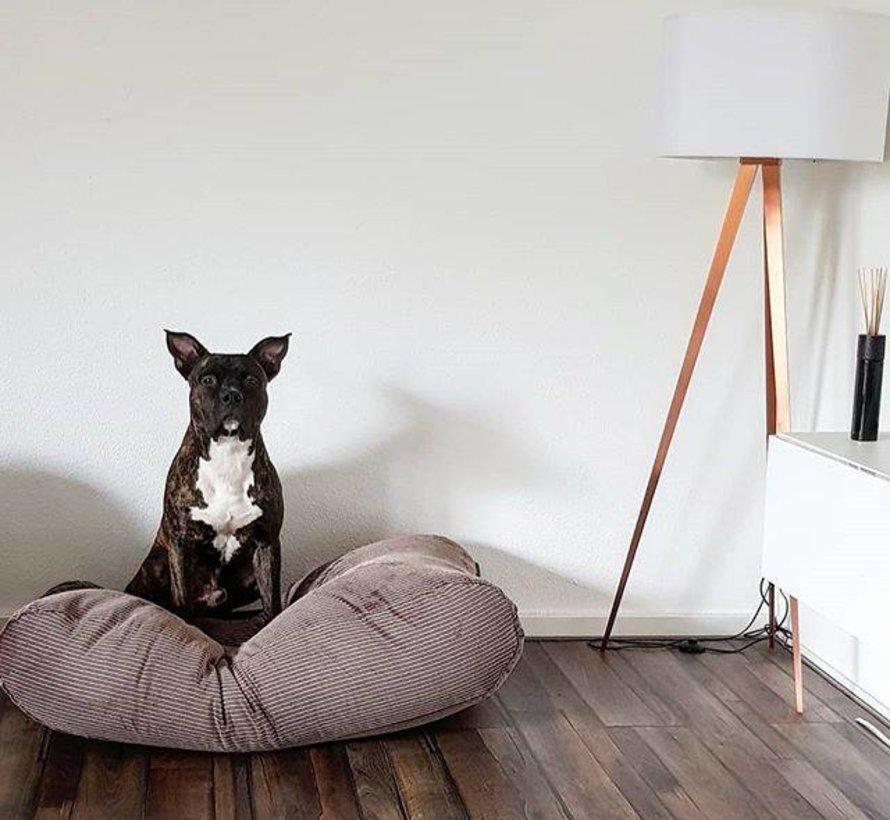 Hundebett Braun-Beige (Cord) Extra Small
