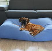 Dog's Companion Hundebett Manhattan Blau Leinen Small